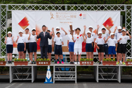 東京2020オリンピック聖火リレー 御殿場で聖火がつながれました